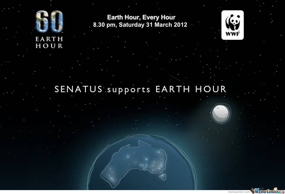 1 Week Befor Earth Hour