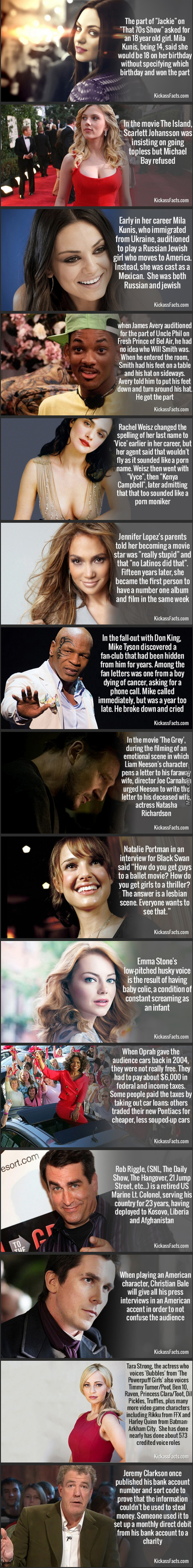 15 Awesome Facts About Celebrities