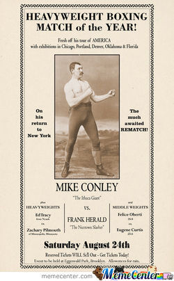 19Th Centuary Boxer Mike Conley Aka Overly Manly Man! He's Real