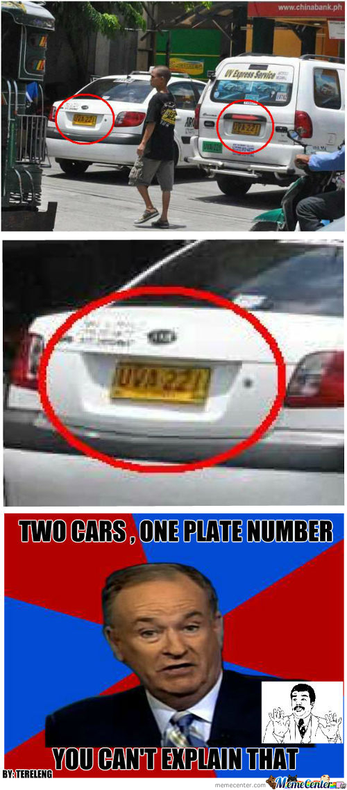 2 Cars 1 Plate #