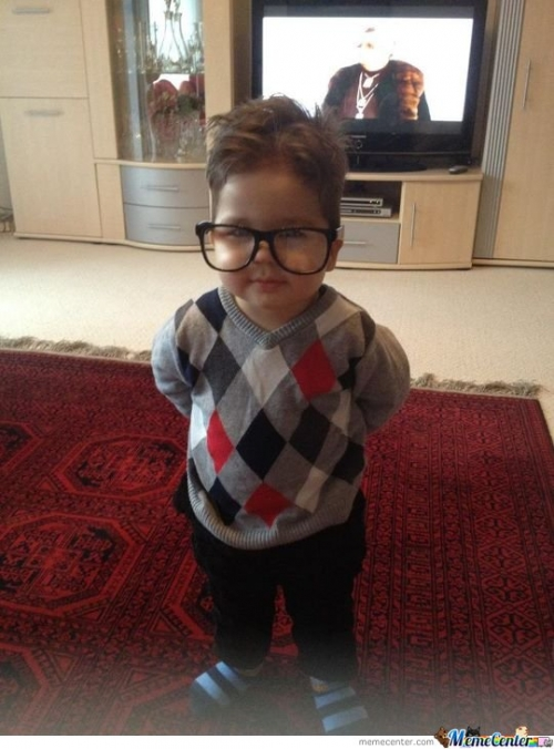 2 year old hipster