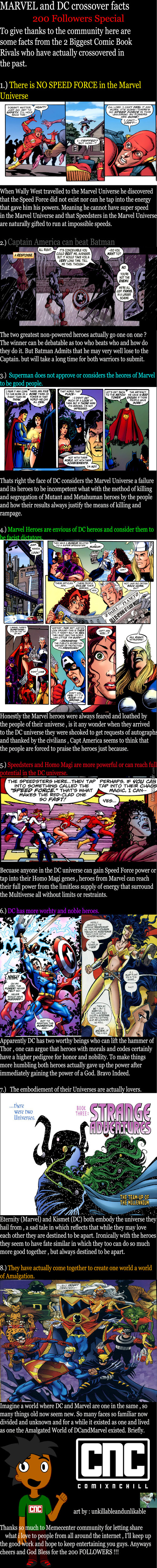 200 Followers Special : Dc And Marvel Crossover