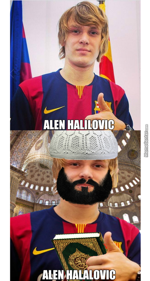 200% Halal Barcelona B Player Alen Halilovic