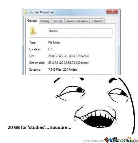 20Gb For Studies...suuuure :p