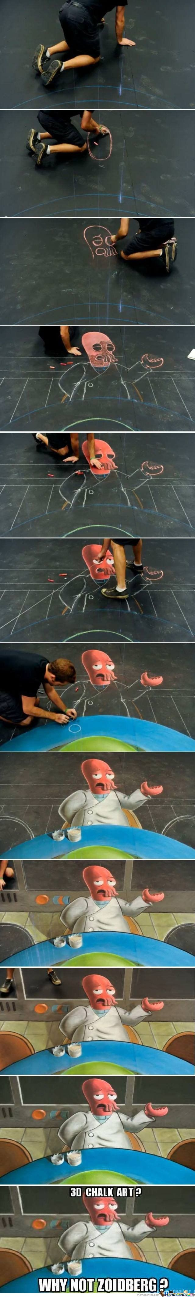 3D Chalk Art? Why Not....
