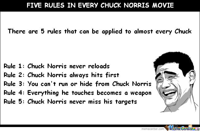 5 Rules In Every Chuck Norris Movie.