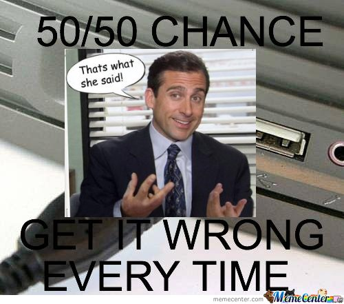 50/50 Chance Get It Wrong  Everytime