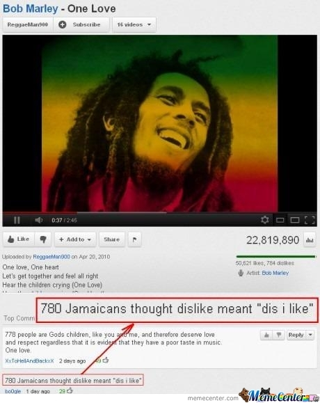 780 Jamaicans Thought Dislike Meant