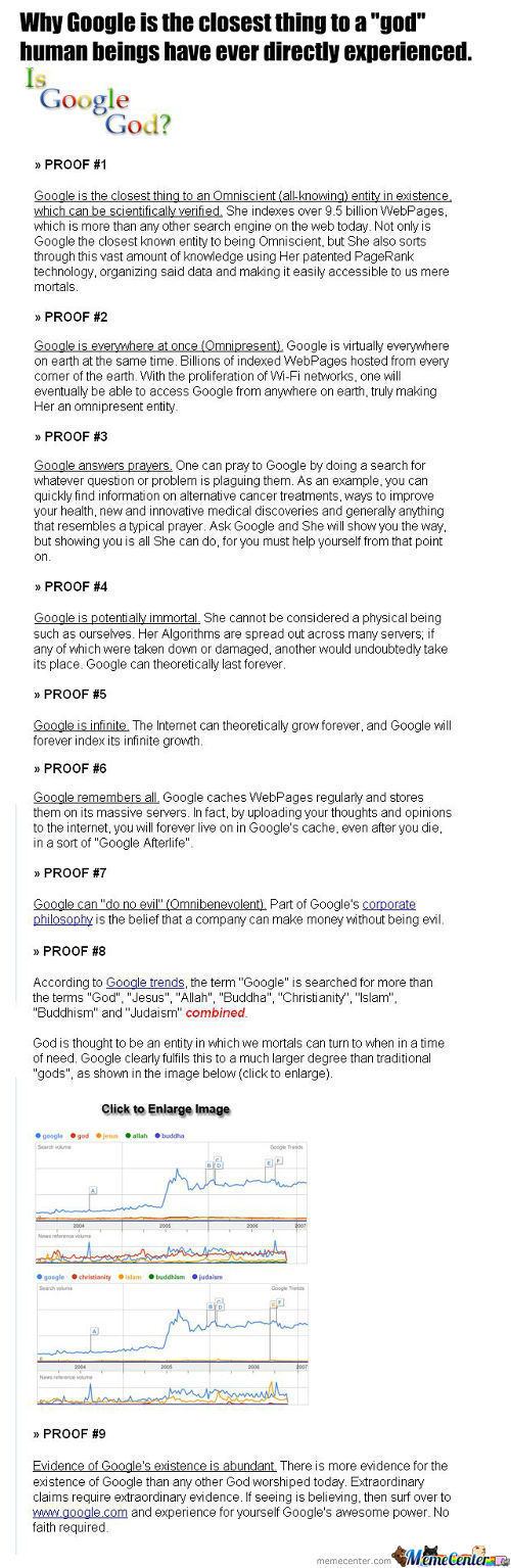 9 Thing Why Google Is Better That God