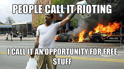99% Looting And Robbing, 1% Protesting
