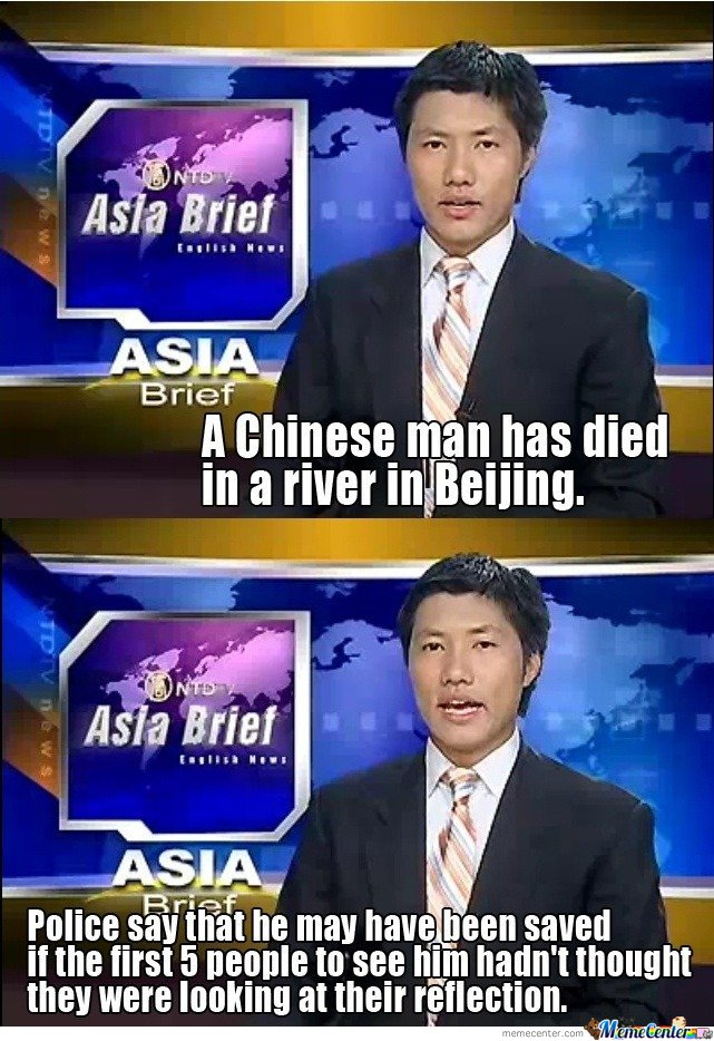 A Chinese Man Died In A River In Beijing