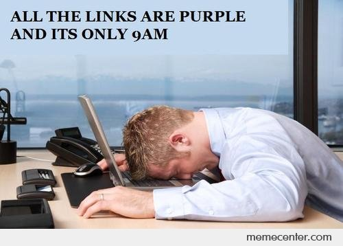 All The Links Are Purple