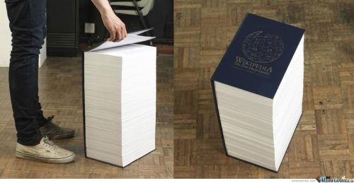 All wikipedia in one book