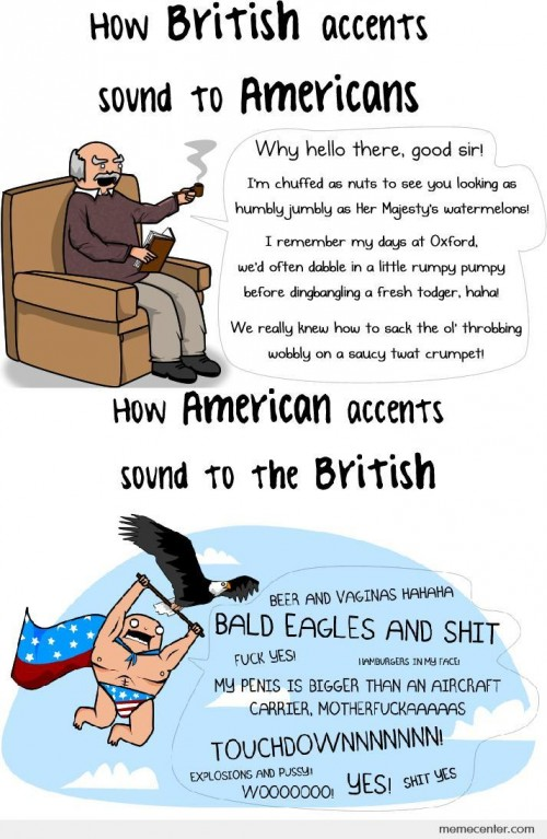 American And British Accents