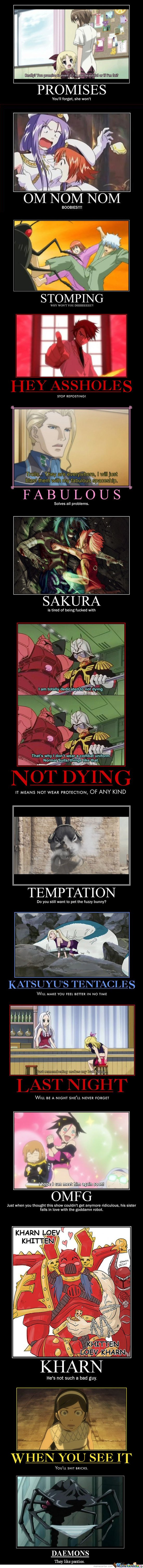 Anime demotivational posters