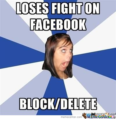 Annoying facebook girl loses fight on facebook