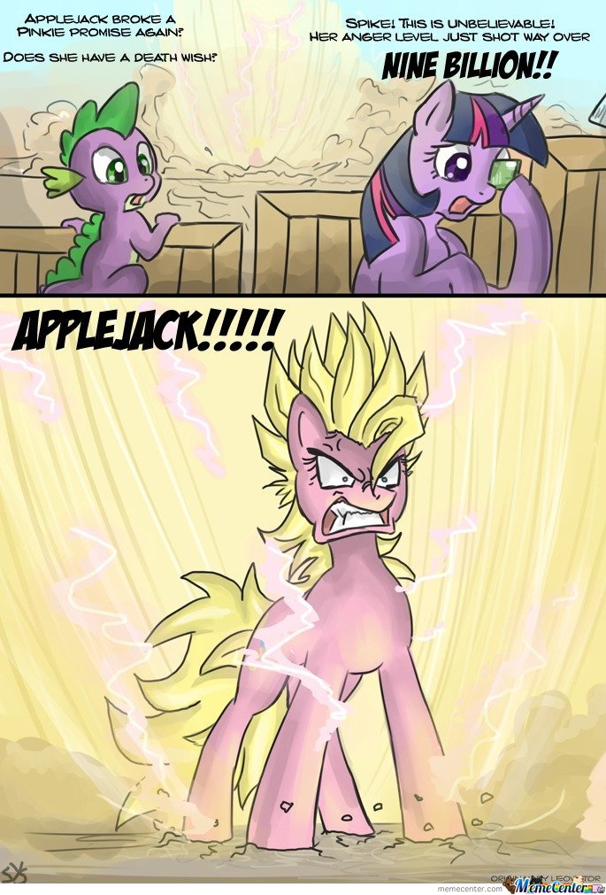 Applejack broke a pinkie promise again?