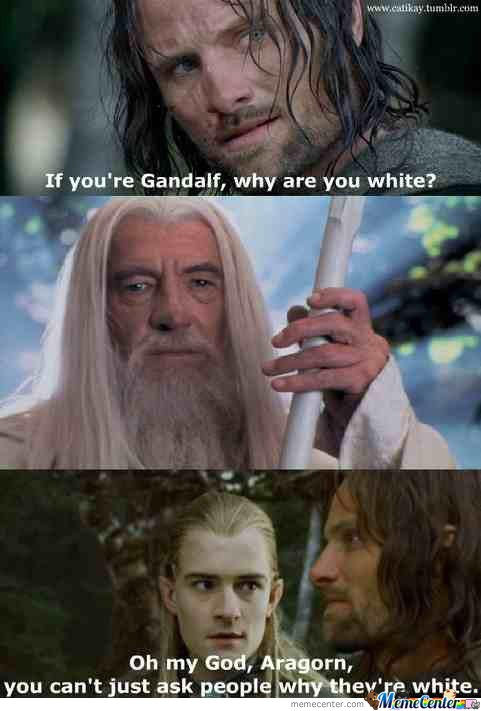 Aragorn, You Are Being Rude.