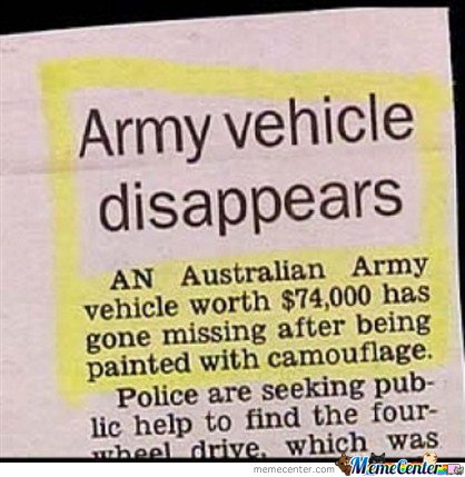 Army Vehicle Disappears