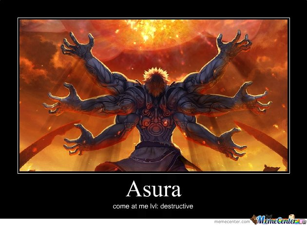 Asura's wrath come at me level: destructive