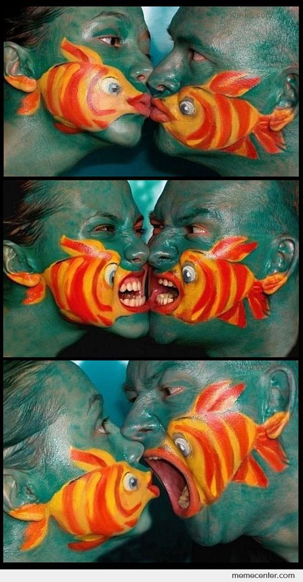 Awesome Face Fish Paints