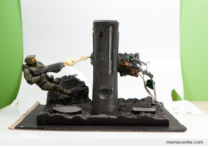 Foyer Console Xbox : Awesome halo xbox elite console by ben meme center