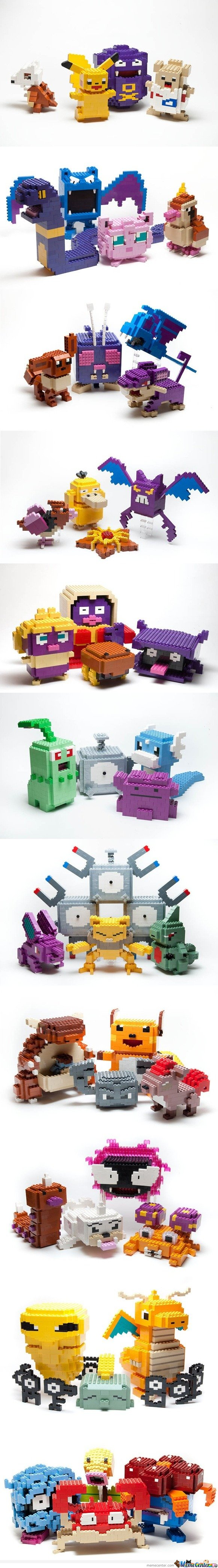 Awesome lego sculptures - Pokemon