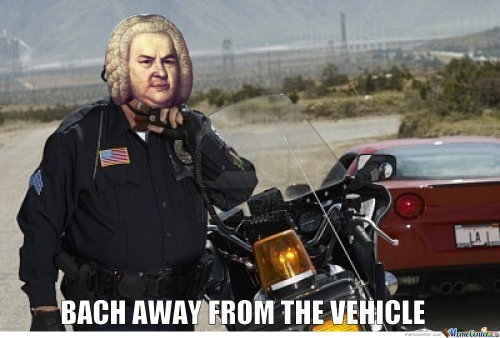 Bach Away From The Vehicle