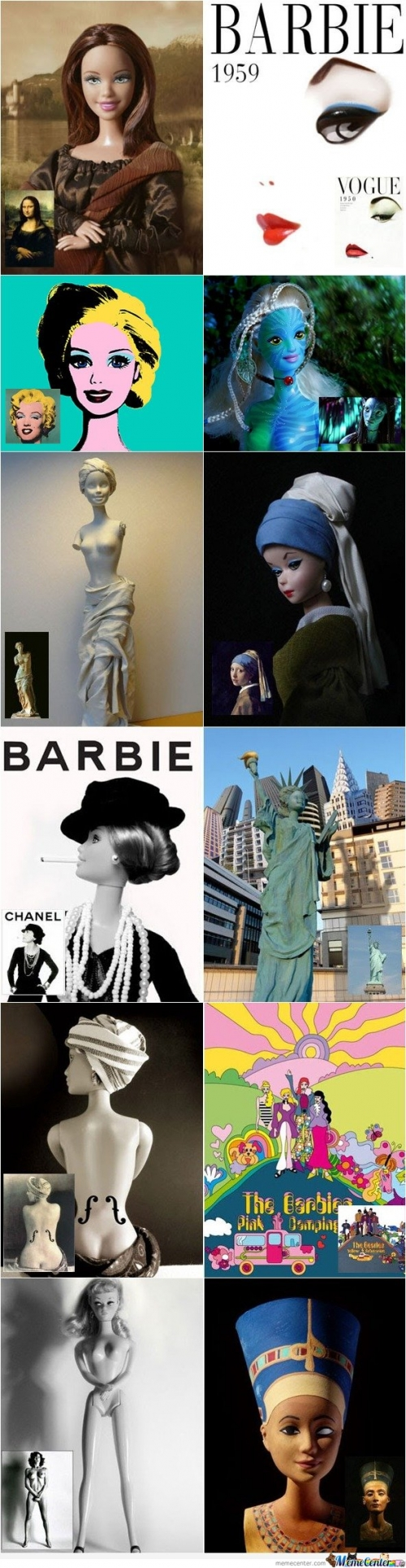 Barbie and Artwork