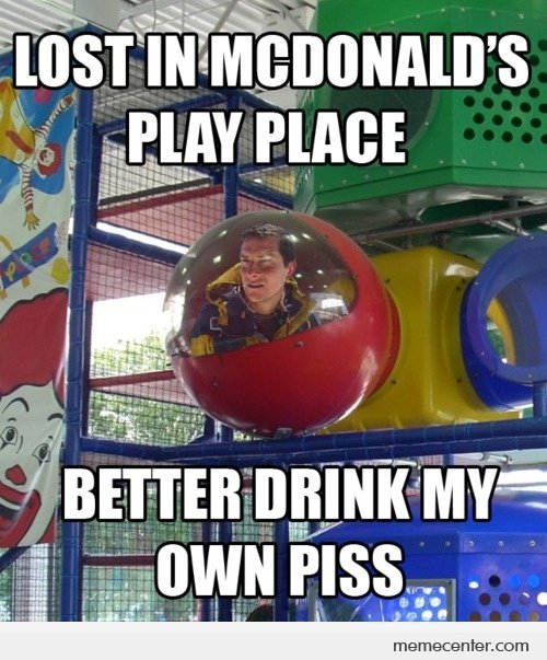 Bear Grylls vs Mc Donald's