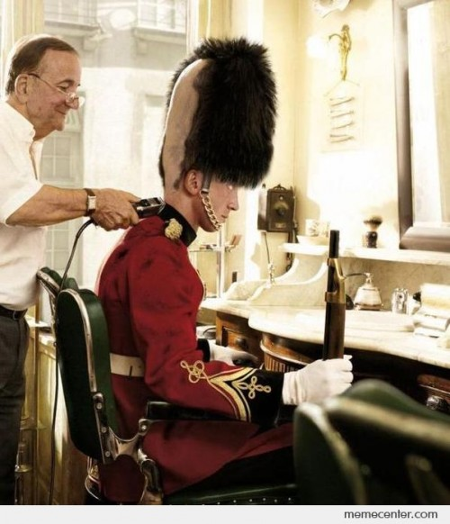 British Soldier Funny Haircut