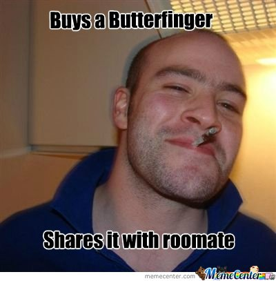 Buys a Butterfinger