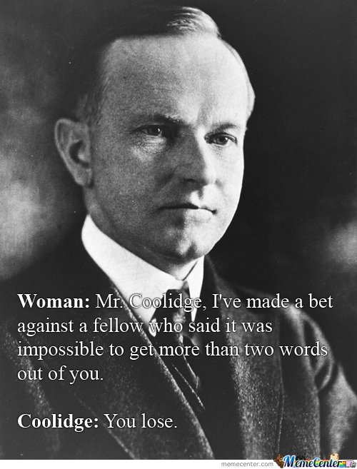 Calvin Coolidge Vs. Some Random Lady At A White House Dinner