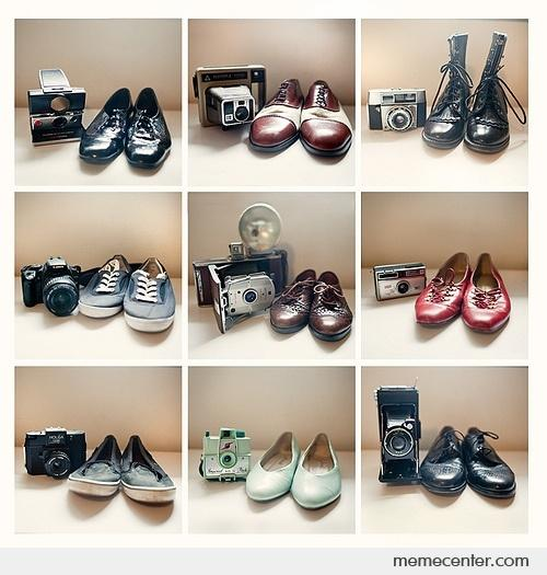 Camera for shoes