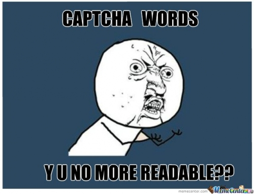 Captcha words
