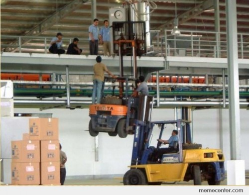 Chinese forklifting