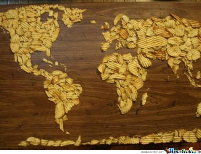 Chips World Map