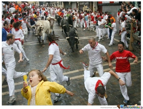 Chubby Bubbles Girl And The Running Of The Bulls
