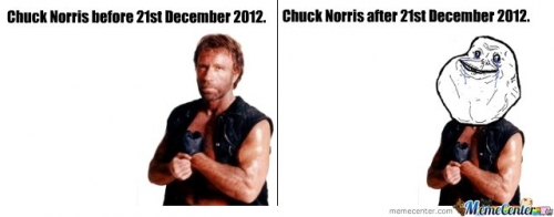 Chuck Norris before and after 21st December 2012