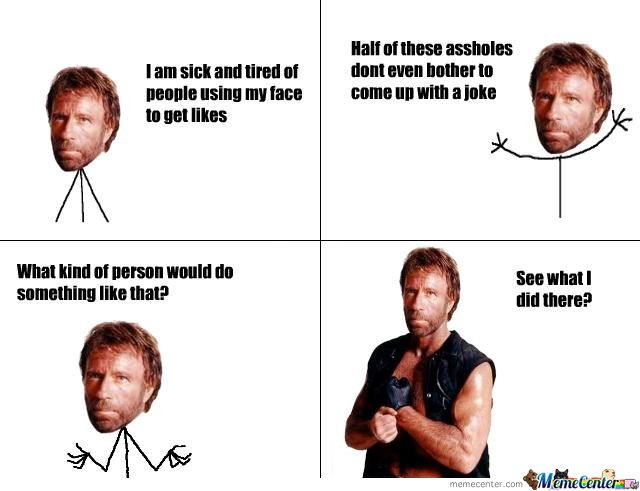 Chuck Norris Gets Likes