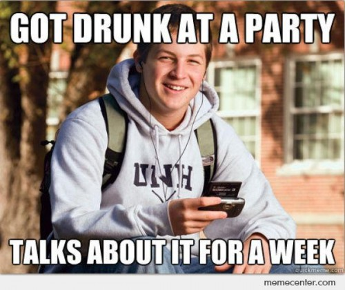 College Freshman: Got Drunk At a Party