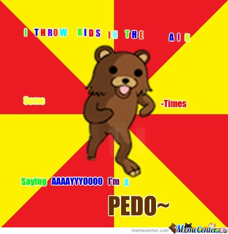 Colorful rape-able hugable pedobear
