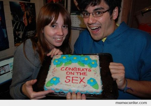 Congrats on the sex
