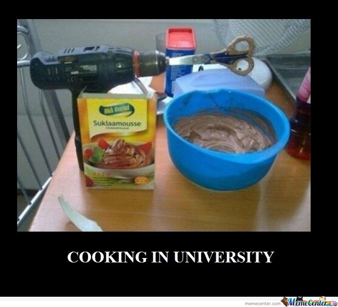 Cooking In University