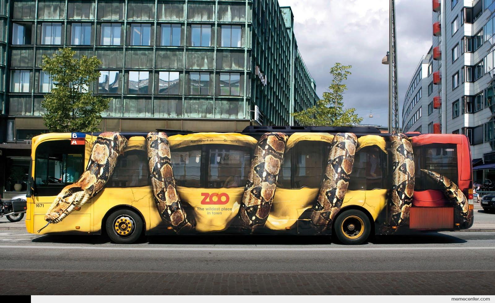 Cool Snake Bus Advertisement