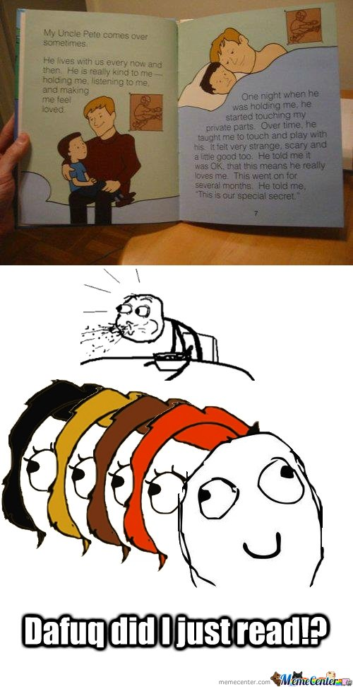 DAFUQ are they reading to kids these days!?
