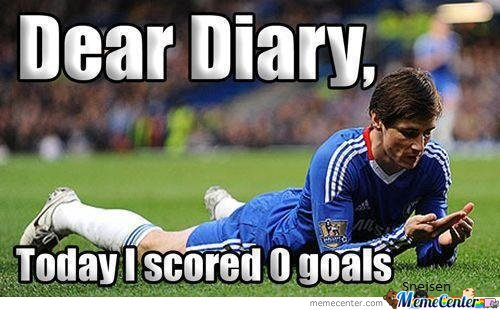 Dear Diary, Today I scored 0 goals