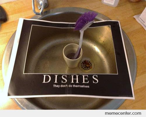 Dishes: Real Life Poster