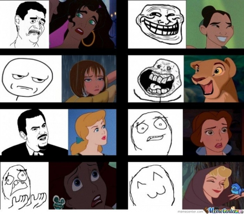 Disney Rage Faces