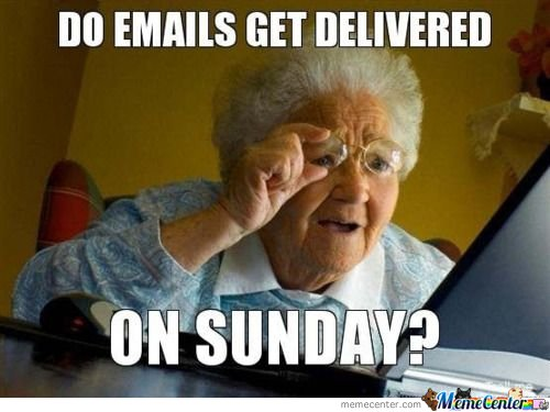 Do Emails Get Delivered On Sunday